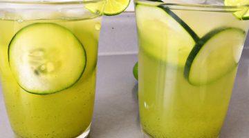 Agua de limón con pepino